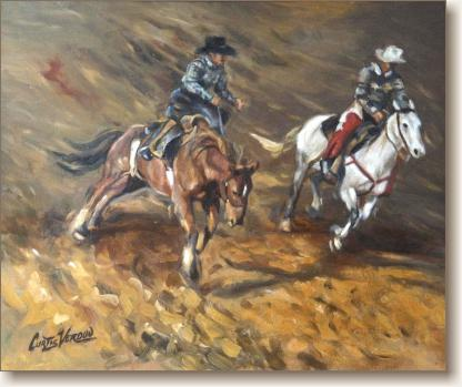View larger image of Oil Painting on Canvas, 'The Bronco'
