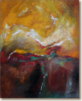 View larger image of Oil Painting on Canvas, 'The Precipice'