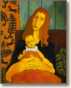 Mother with Child, Original Painting by Quincy Verdun