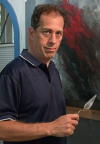 Curtis Verdun in his art studio
