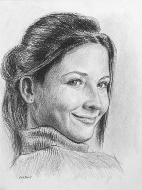 Jaime - Pencil Portrait by Curtis Verdun